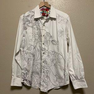 Robert Graham men's floral embroidered shirt